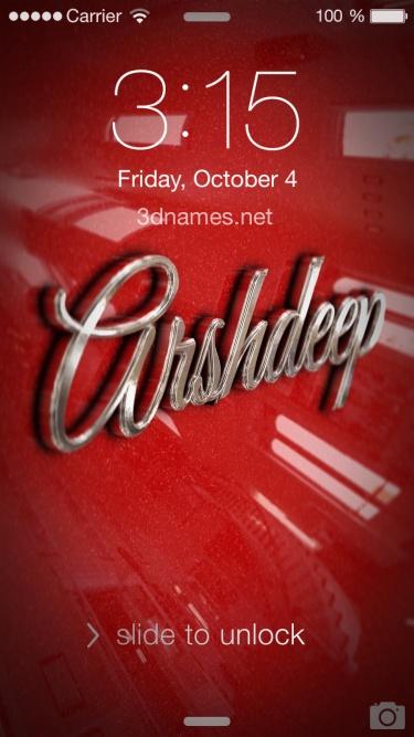 arshdeep name 3d