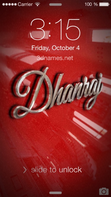 dhanraj 3d name