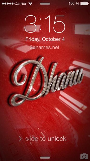 dhanu 3d name