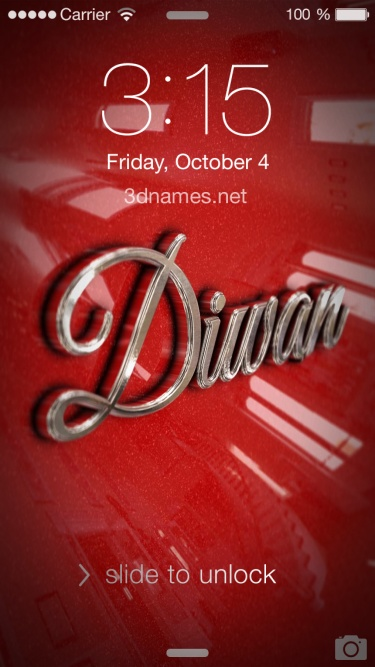Preview of 'Car Paint' for name: diwan