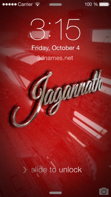 Preview of 'Car Paint' for name: Jagannath