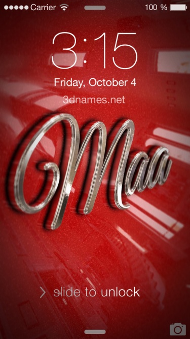 Preview of 'Car Paint' for name: maa
