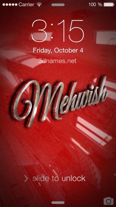 i love mehwish name