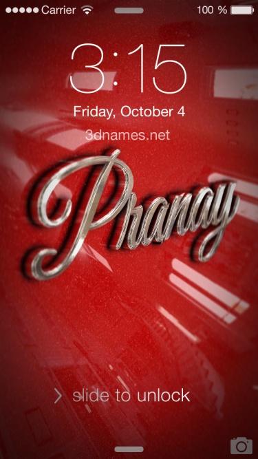 pranay 3d name