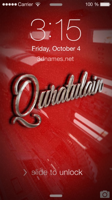 Preview of 'Car Paint' for name: quratulain