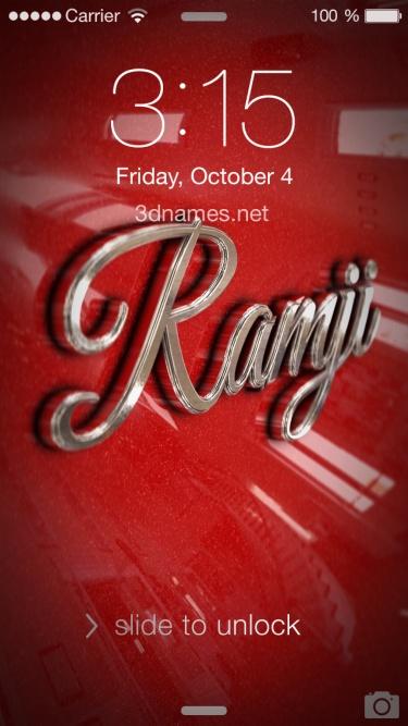 ramji 3d name