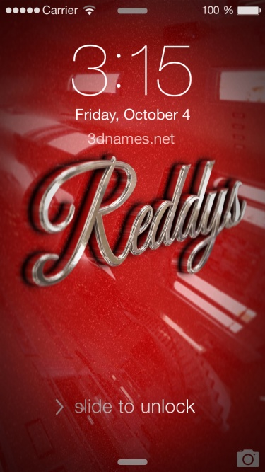 Preview of 'Car Paint' for name: Reddys