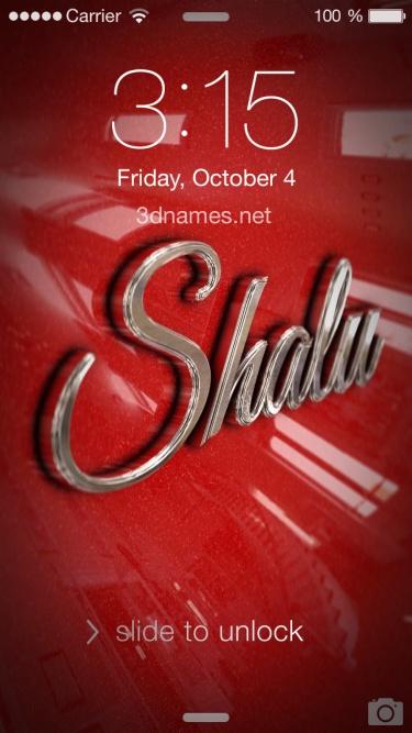 shalu name 3d