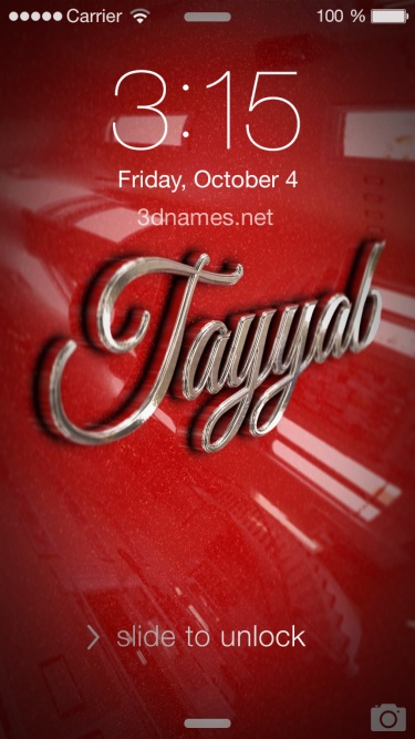 tayyab name 3d