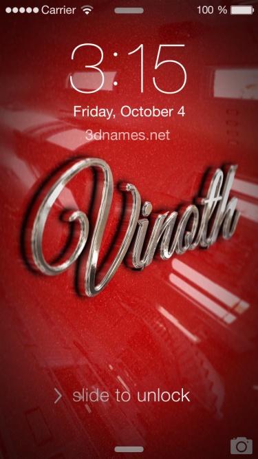 vinoth name