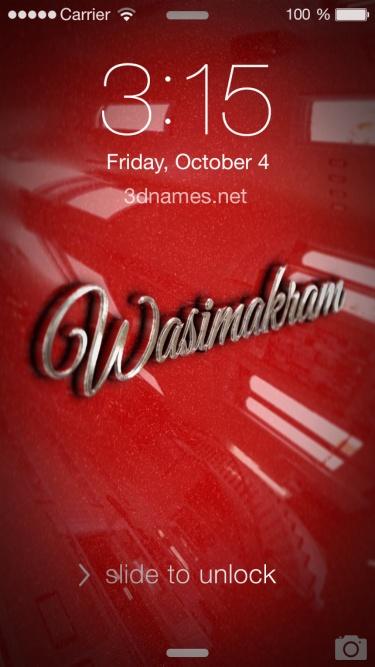 wasim akram name