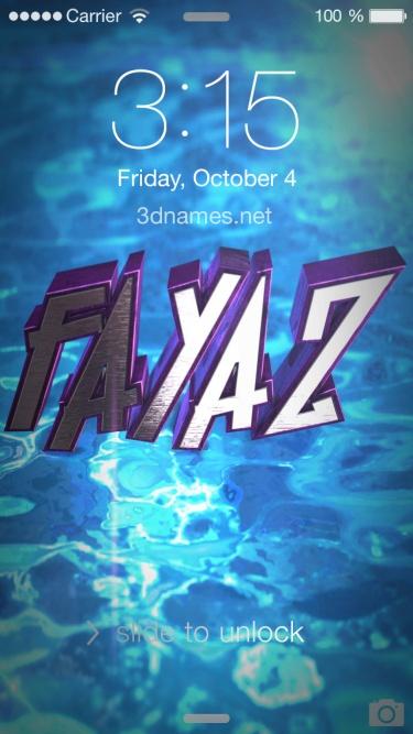fayaz 3d name