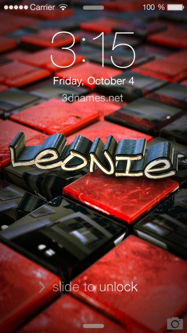Preview of 'Red Checkered' for name: Leonie