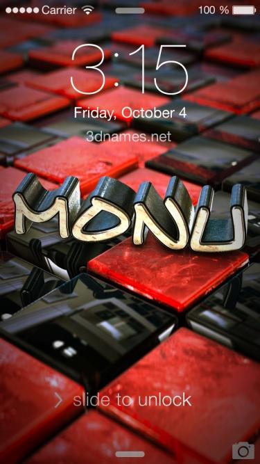monu name 3d