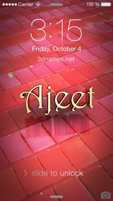 ajeet name 3d