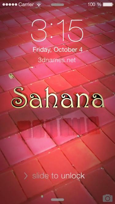 shahana name 3d