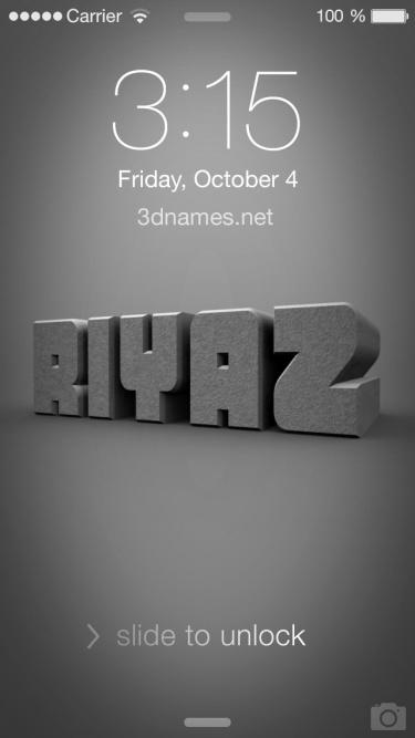 riyaz name 3d