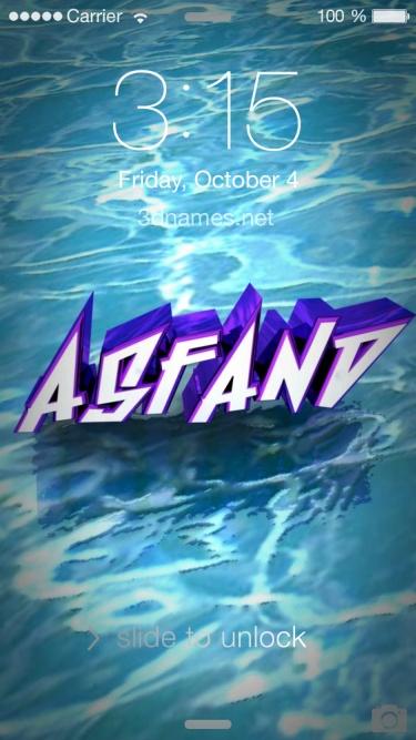 asfand name 3d