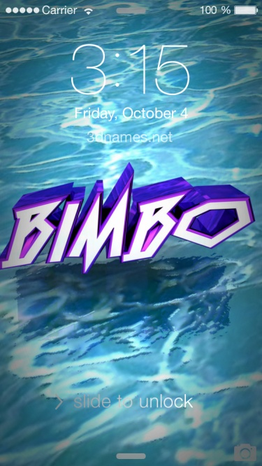 Preview of 'Water' for name: Bimbo