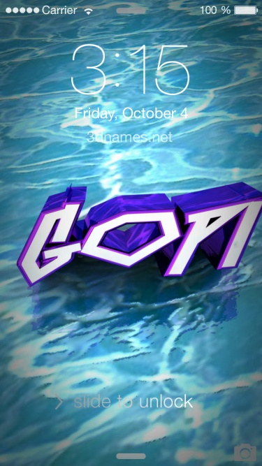 Preview of 'Water' for name: gopi