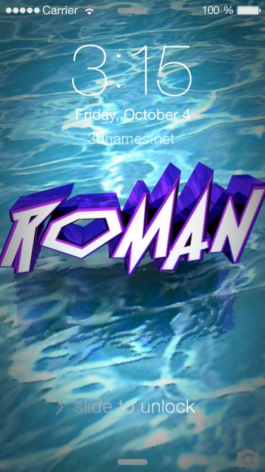Preview of 'Water' for name: Roman