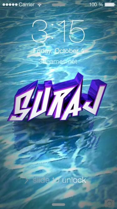 Preview of u0027Wateru0027 for name: suraj