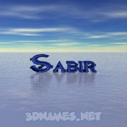 sabir 3d name