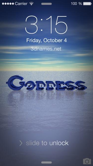 Preview of 'Horizon' for name: goddess