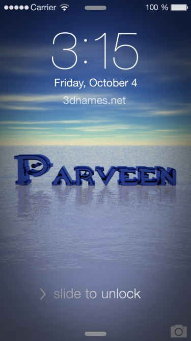 Preview of 'Horizon' for name: parveen