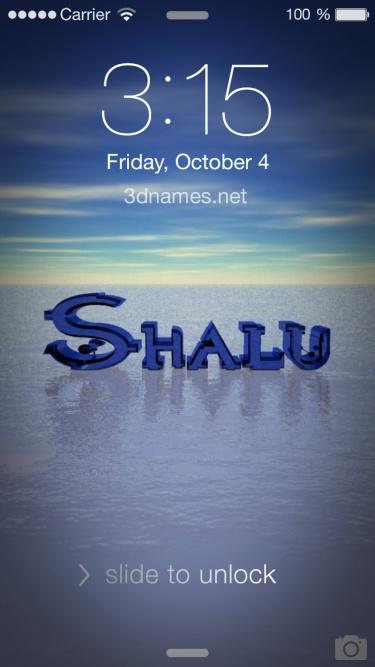 shalu 3d name