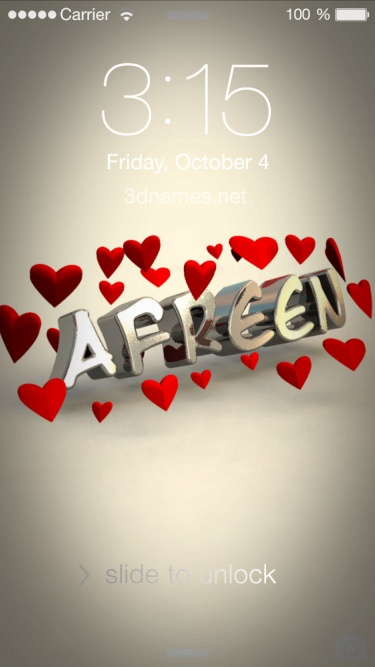i love you aafreen name
