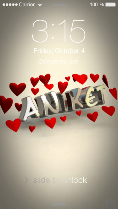 Preview Of In Love For Name Aniket