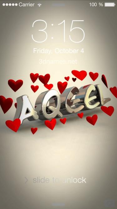 aqeel i love you name