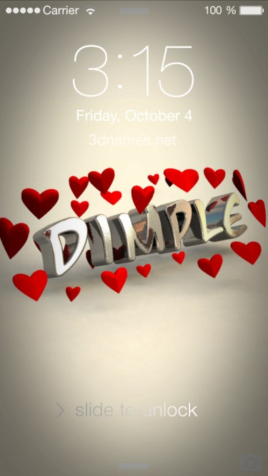 Preview Of In Love For Name Dimple