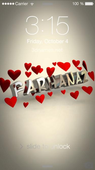 farhana 3d name