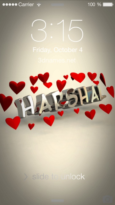 harshal 3d name