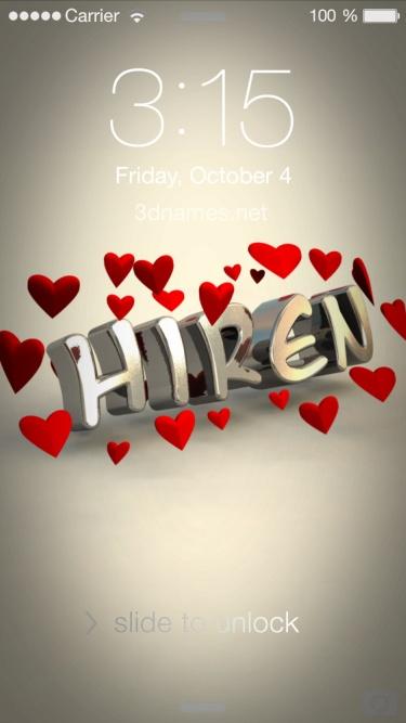 hiren 3d name
