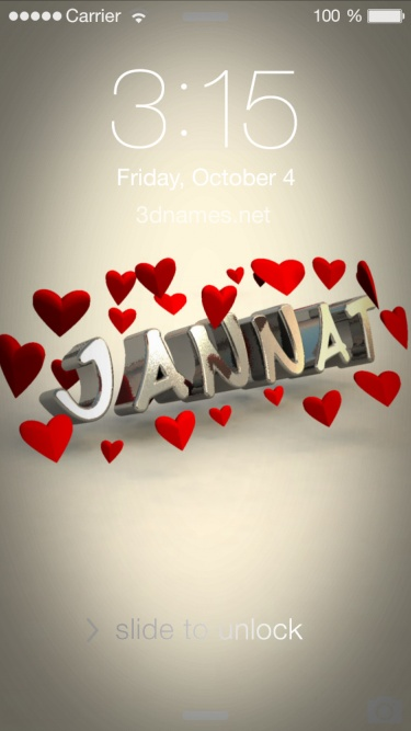 Preview of 'In Love' for name: Jannat
