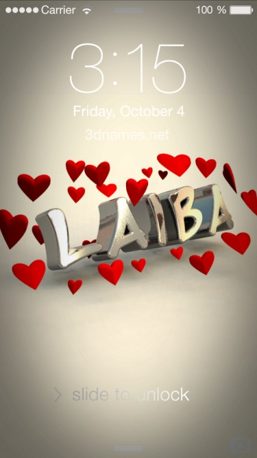 laiba name hd