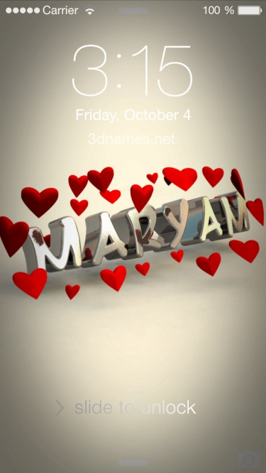 Preview of 'In Love' for name: maryam
