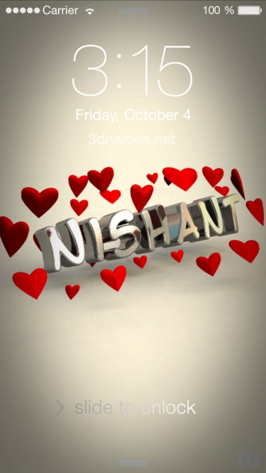 nishant 3d name