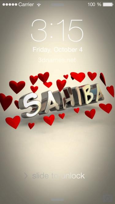 sahiba 3d name