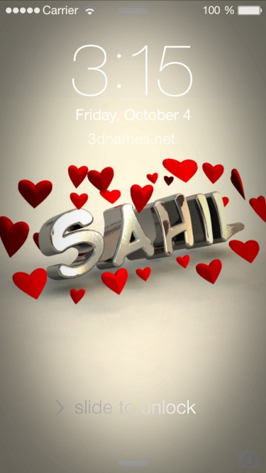 Preview of 'In Love' for name: sahil
