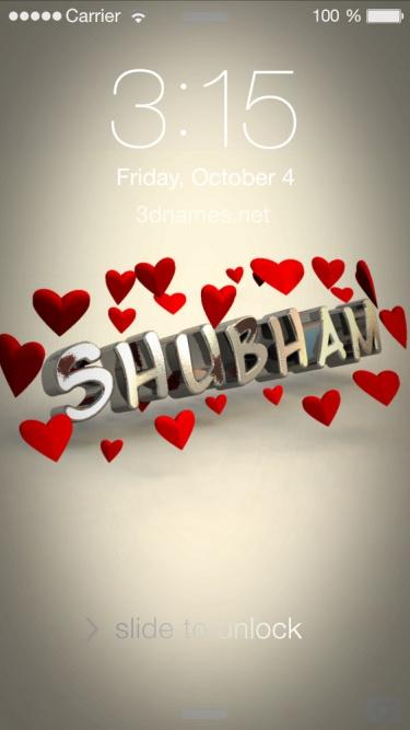 shubham name 3d