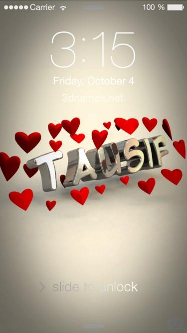 tausif name love
