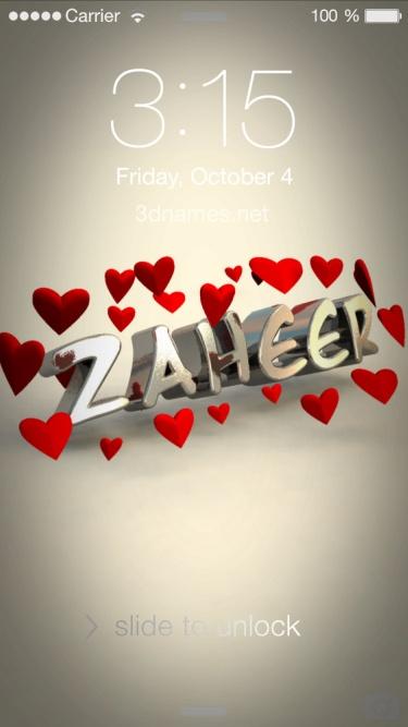 zaheer 3d name