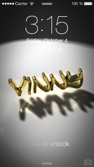 3D Name style: Gold Shine