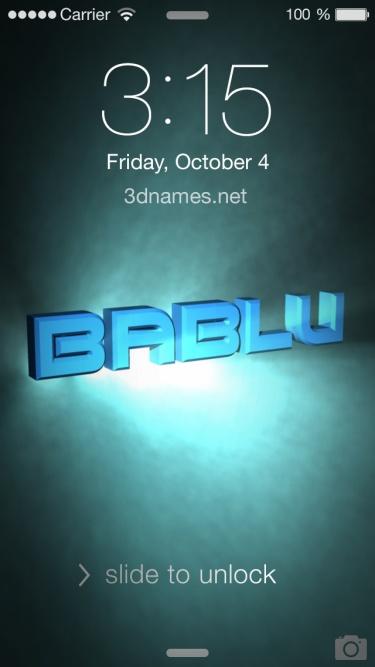 3d name bablu