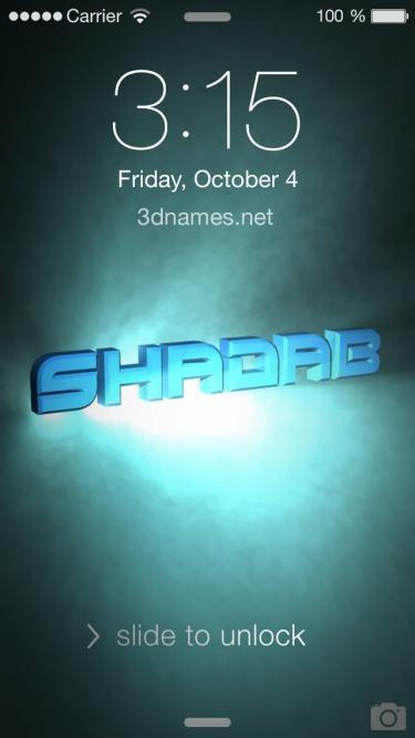 shadab name 3d