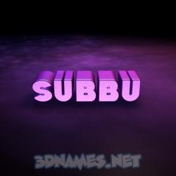 subbu 3d name